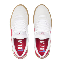Cambridge - White/Red Suede