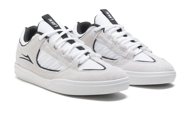 Carroll - White/Black Suede