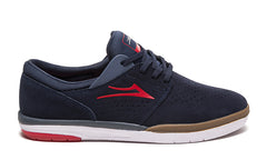 Fremont - Navy/Red Suede