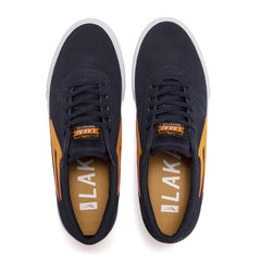 Manchester - Navy/Orange Suede