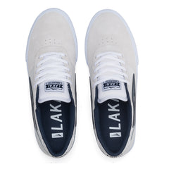 Manchester - White/Navy Suede
