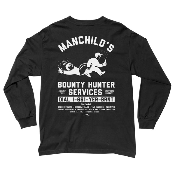 Manchild's Bounty Hunter Long Sleeve T-Shirt