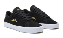 Newport - Black/Gold Suede