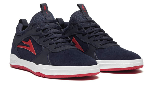 Proto - Navy/Red Suede