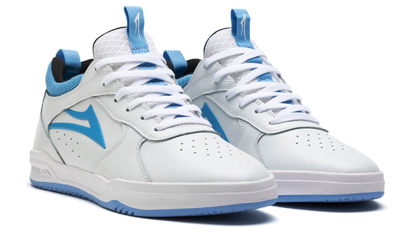 Proto - White/Light Blue Leather