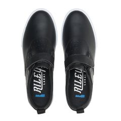Riley 2 Velcro Strap - Black Leather