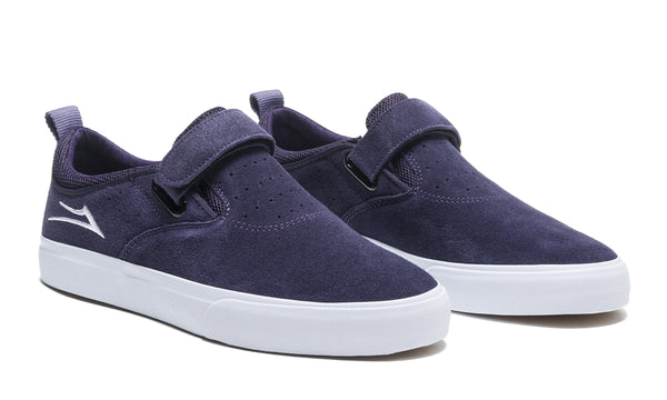 Riley 2 Velcro Strap - Purple Suede