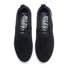 Riley 2 - Black/White Suede