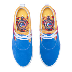 Riley 2 - Blue/Red/Yellow Suede