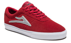 Sheffield - Red/Silver Suede