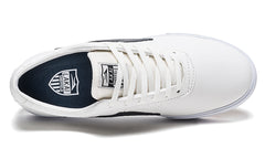Sheffield - White/Navy Leather