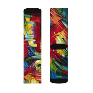 art-by-novik - Watching Symbols Sublimation Socks - All Over Prints