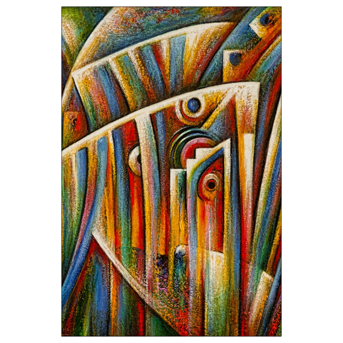 art-by-novik - Pearl Born Flat Note Card -