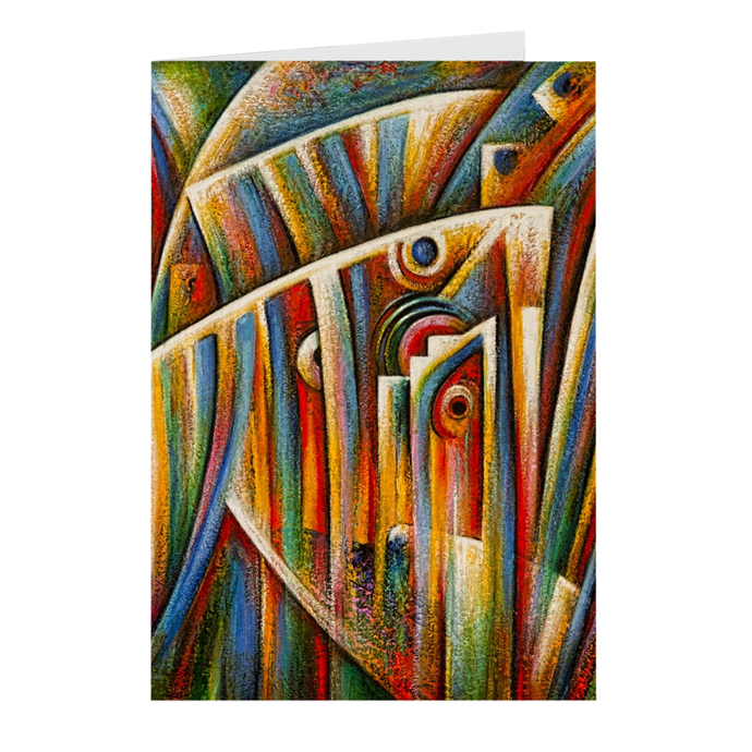 art-by-novik - Pearl Born Folded Note Cards -