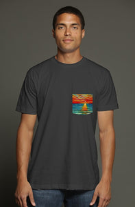 art-by-novik - The Gift of Sunset USA Men's Pocket Tee - tshirts