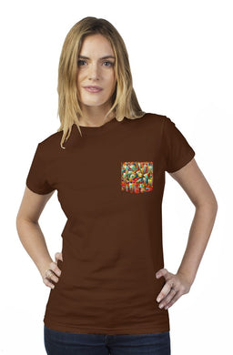 Music in the City Tultex Women's Pocket Tee