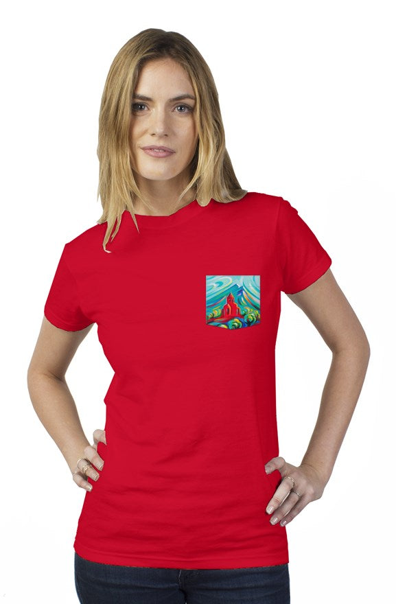 Red Church Tultex Women's Pocket Tee