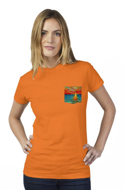 The Gift of Sunset Tultex Women's Pocket Tee