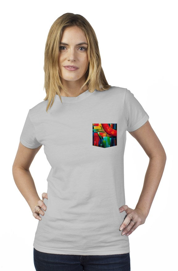 art-by-novik - Another Time Tultex Women's Pocket Tee - tshirts