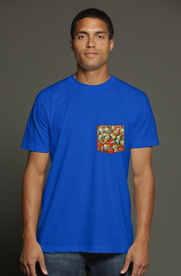 Music in the City USA Men's Pocket Tee