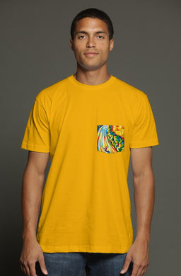 Road to the Sky USA Men's Pocket Tee