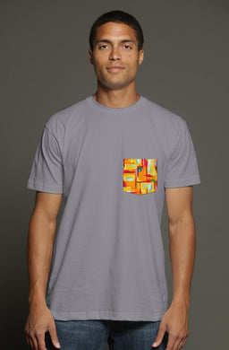 Short Summer USA Men's Pocket Tee