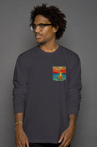 art-by-novik - Gift of Sunset Long Sleeve Men's Pocket Tee - tshirts
