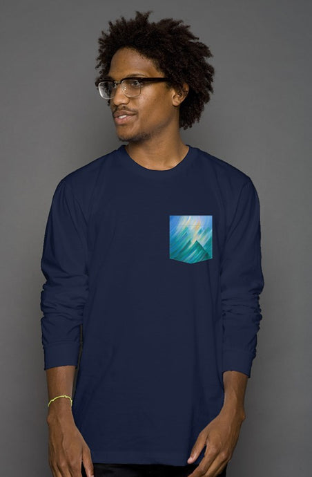 art-by-novik - Storm Fantasy Long Sleeve Men's Pocket Tee - tshirts