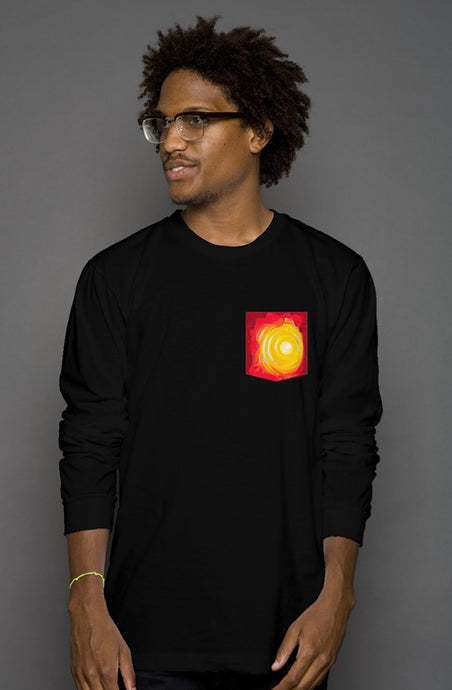art-by-novik - Heat Long Sleeve Men's Pocket Tee - tshirts