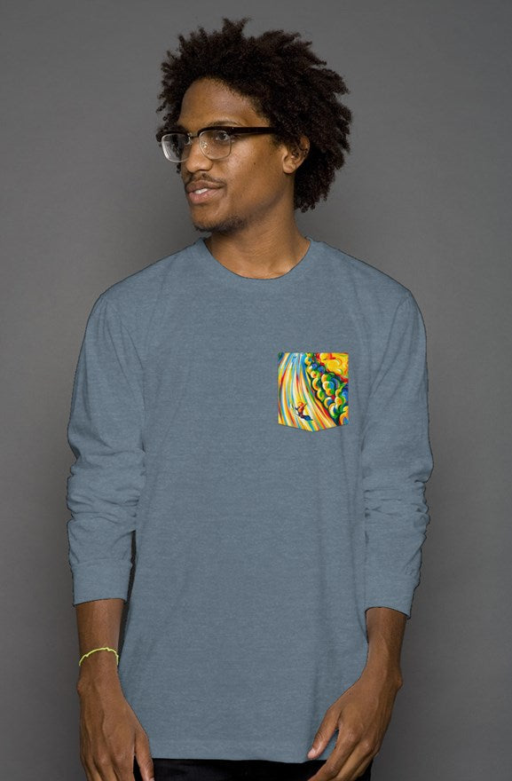 Road to The Sky Long Sleeve Men's Pocket Tee
