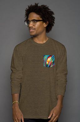Inspiration Long Sleeve Men's Pocket Tee