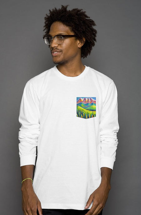 art-by-novik - Somewhere Far Long Sleeve Pocket Tee - tshirts