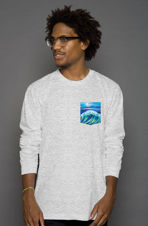 art-by-novik - Midnight Bride Long Sleeve Pocket Tee - tshirts