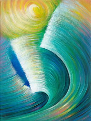 (40X30) Wave Romance on Traditional Stretched Canvas
