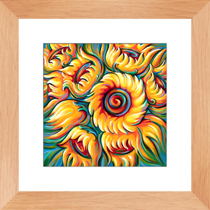 art-by-novik - Children of the Sun Framed Print -