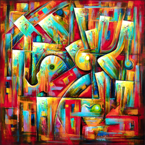 art-by-novik - Music in the City Giclee Art Prints -