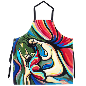 art-by-novik - We are Nature Apron - abstract expressionism art contemporary