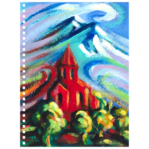 art-by-novik - Red Church 2 Notebook -
