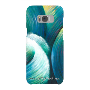 Phone Case Expressionist Ocean Water Waves Art by Novik - Rebellious Element