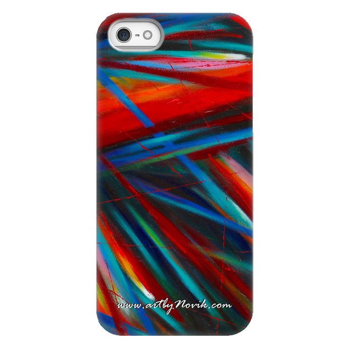 Phone Case Abstract Art by Novik - Through Each Other