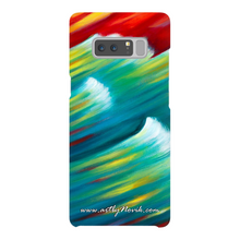 Load image into Gallery viewer, Phone Case Expressionist Ocean Water Waves Sunset Art by Novik - Messenger of the Sunset*