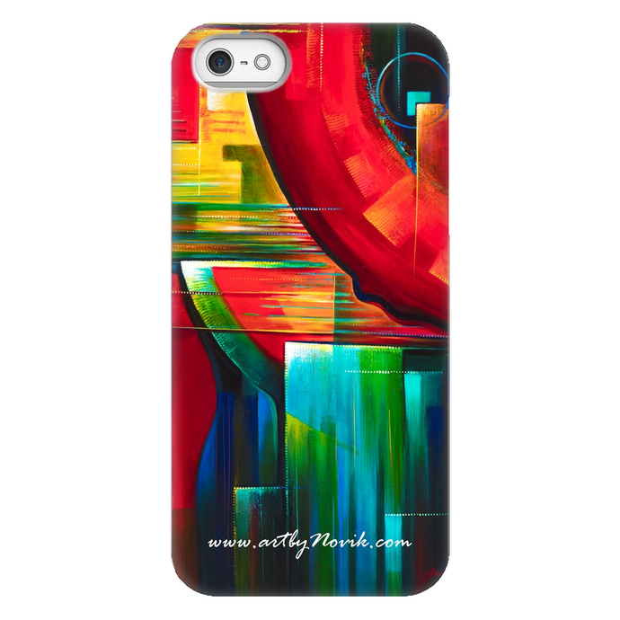 Phone Case Abstract Art by Novik - Another Time