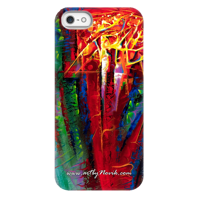 Phone Case Abstract Art by Novik - Tree of Life