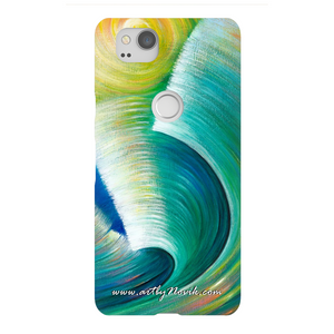 Phone Case Expressionist Ocean Water Waves Art by Novik - Wave Romance*