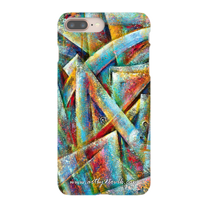Phone Case Abstract Art by Novik - Space Map