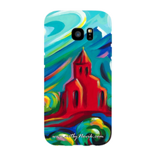 Load image into Gallery viewer, Phone Case Expressionist Landscape Sacred Art by Novik - Red Church #2