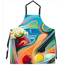 Load image into Gallery viewer, Kitchen Apron with Surrealist Expressionist Art by Novik