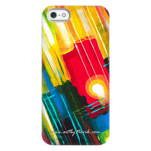 Phone Case Abstract Art by Novik - Lightning Ball