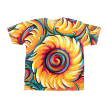 Load image into Gallery viewer, all over T-Shirt Sunflower painting by Novik Expressionism Children of the Sun