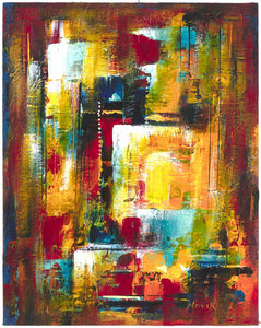 Abstract Expressionist Paintings by Venice Los Angeles California artist Novik 2